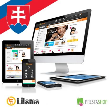 Slovenčina pre PrestaShop šablónu Lilama Mega Shop (SKLMS)