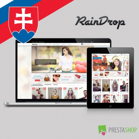 Slovenčina pre PrestaShop šablónu RainDrop (SKRAINDROP)