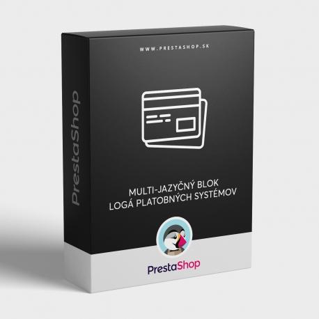 Blok: Logá platobných systémov v produktoch - Multi-jazyčný