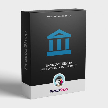 Multi-jazykový a multi-menový bankový prevod pre PrestaShop