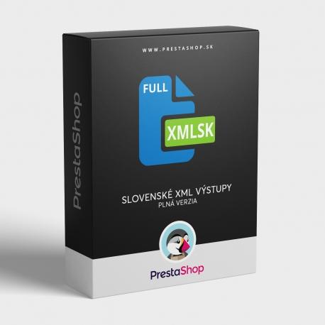 XML Sk výstupy (Full) pre porovnávače cien (PSXMLSKF)