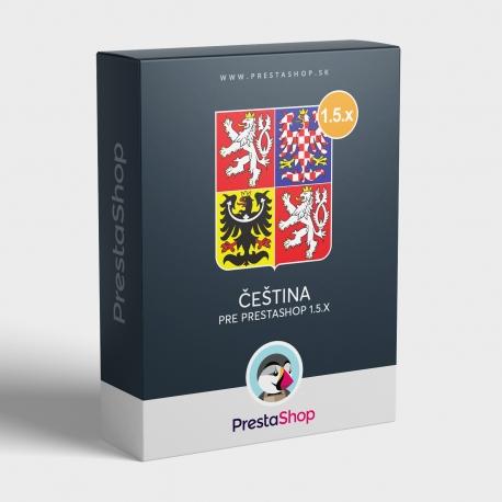 Čeština pre PrestaShop 1.5.x