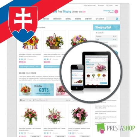 Slovenčina pre PrestaShop šablónu Leo Flowers (SKLFLOWERS)
