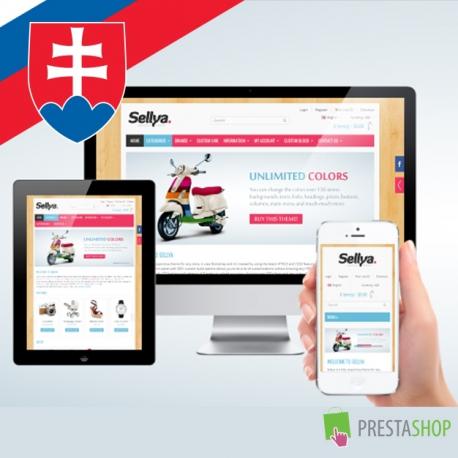 Slovenčina pre PrestaShop šablónu Sellya (SKSELLYA)