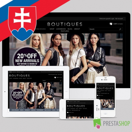 Slovenčina pre PrestaShop šablónu Boutiques