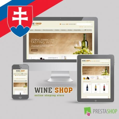 Slovenčina pre PrestaShop šablónu Wine Shop (SKWINE)