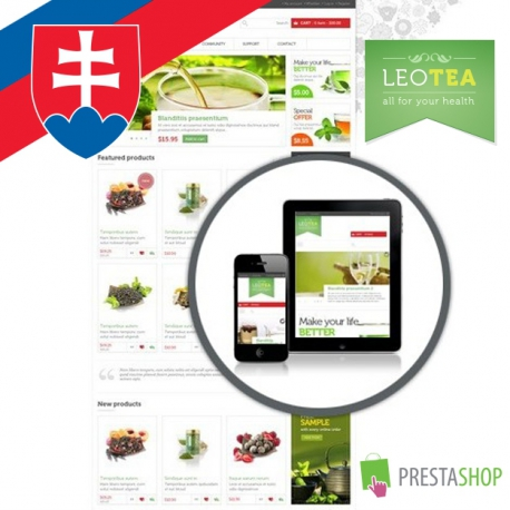 Slovenčina pre PrestaShop šablónu Leo Tea (SKLEOTEA)