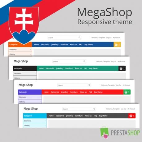 Slovenčina pre PrestaShop šablónu MegaShop (SKMEGASHOP)