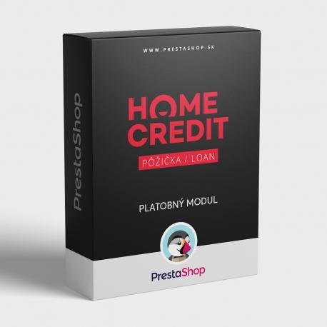 Platobný modul Home Credit pôžicka pre PrestaShop