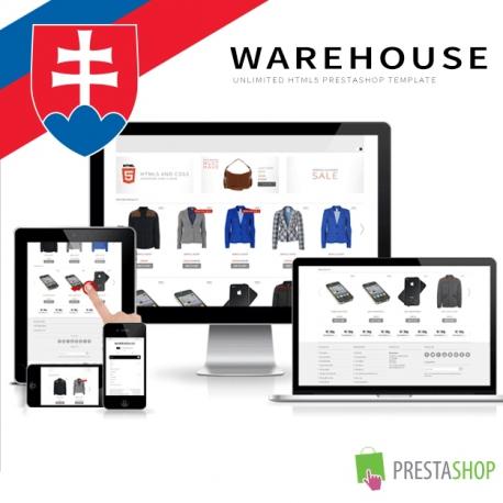 Slovenčina pre PrestaShop šablónu Warehouse