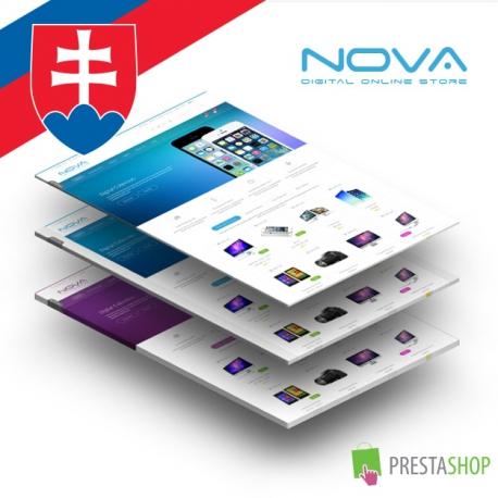 Slovenčina pre PrestaShop šablónu SNS Nova (PSNOVA)