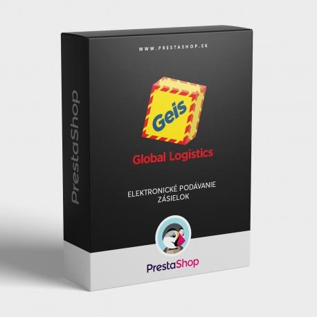 Elektronické podávanie zásielok Geis Global Logistics pre PrestaShop
