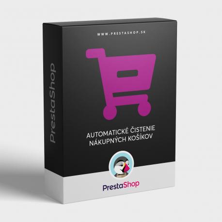 Administráci amodulu: Automatické čistenie nákupných košíkov v PrestaShope