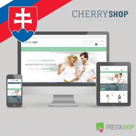 Slovenčina pre PrestaShop šablónu Cherry Shop (SKCHERRYSHOP)