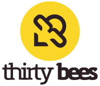 Logo: thirty bees