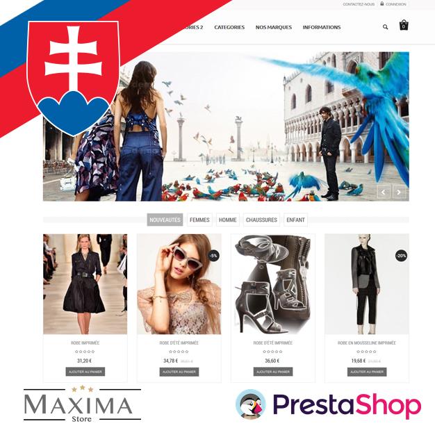 Slovenčina pre PrestaShop šablónu Maxima (SKMAX)