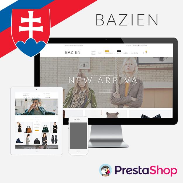 Slovenčina pre PrestaShop šablónu Bazien (PSBAZIEN)