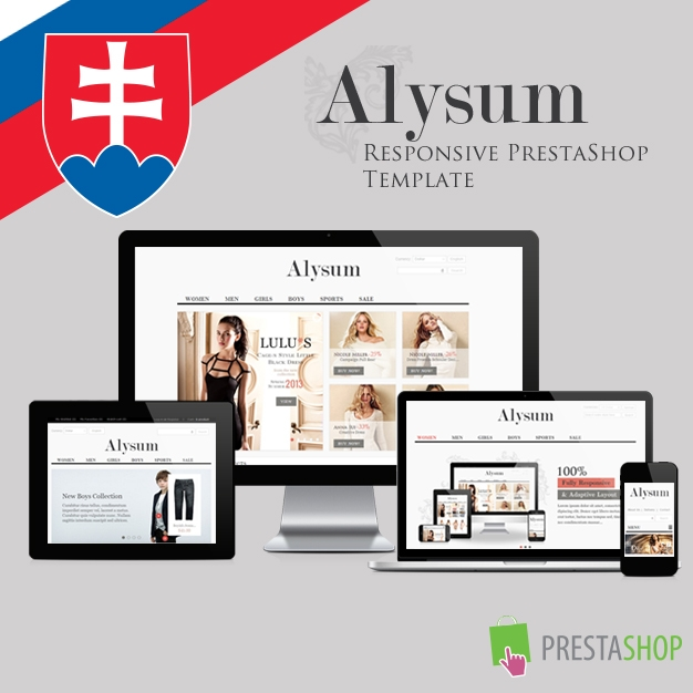 Slovenčina pre PrestaShop šablónu Alysum (SKALYSUM)