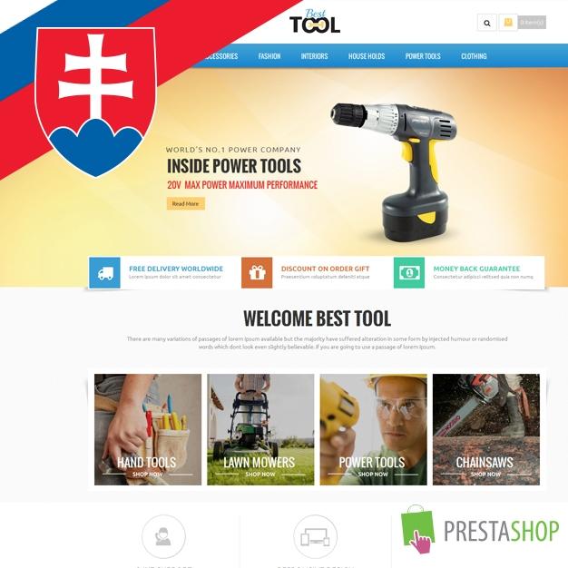 Slovenčina pre PrestaShop šablónu Tools (SKTOOLS)