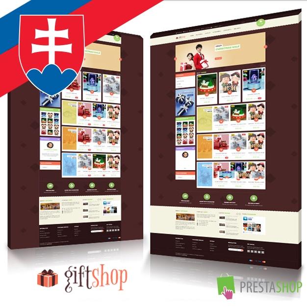 Slovenčina pre PrestaShop šablónu Leo Gift Shop (SKLGS)